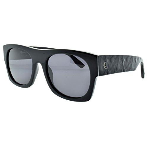 Alexander McQueen MCQ 0022/S 64H Matte black Rectangle - Mcqueen Sunglasses Men Alexander