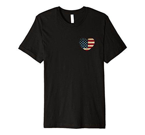 American Flag Heart T-Shirt For July 4th