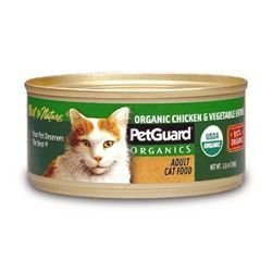Petguard Organic Chicken and Vegetable Dinner for Cats, 5.5-