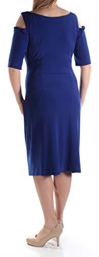 Vestito Delle spalla Collegato Freddo Donne Guaina Blu Abbigliamento qwU6fWv