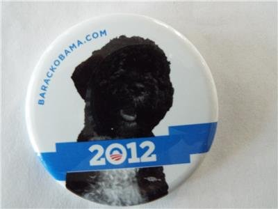 RARE OFFICIAL BO OBAMA 2012 Pinback Button 2.25 in -