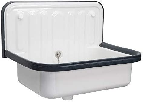 Ap Wall Mounted Small Service Sink Glazed Steel Utility Sink With