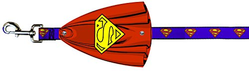 Superman Logo and Cape Dog Leash by Buckle Down
