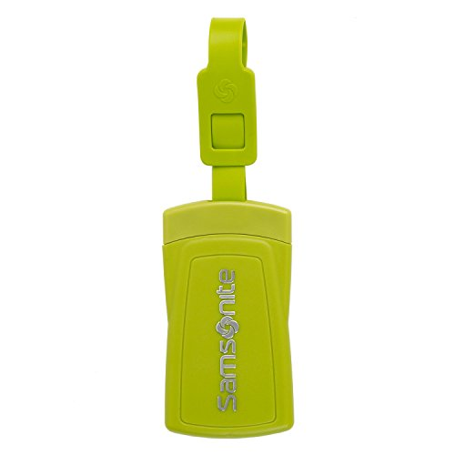 Samsonite Security ID Luggage Tag (Set of 2) Neon (Green Neon Luggage Tag)