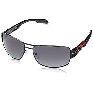Prada Linea Rossa Men's PS 53NS Sunglasses Black / Polar Grey Gradient 65mm