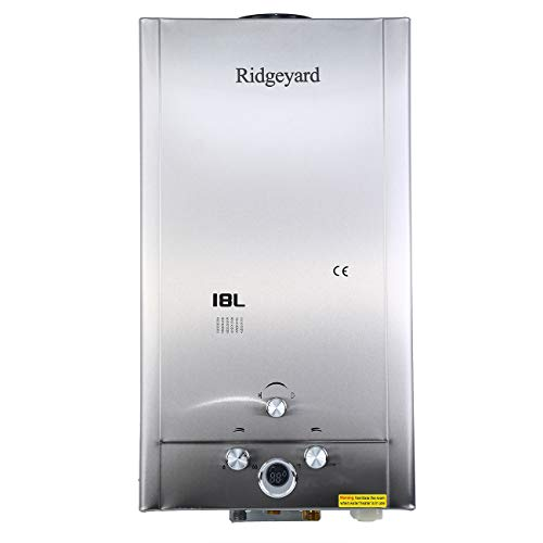 Ridgeyard 18L 4.75GPM Tankless LPG Liquid Propane Gas House Instant Hot Water Heater Boiler