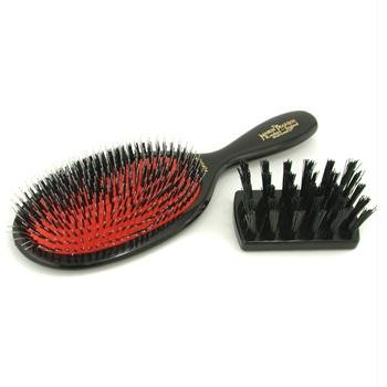 Boar Bristle & Nylon - Popular Mixture Bristle & Nylon Hair Brush (Dark Ruby) - 1pc by Mason Pearson
