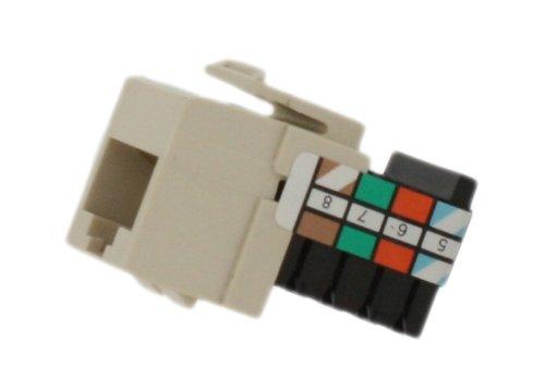 Leviton 41108-RT8 Voice Grade QuickPort Connector, 8-Wire, Light Almond ()