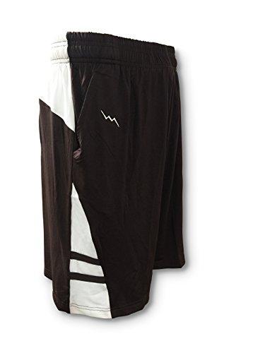 LightningWear Men's Athletic Shorts - Adult Large Brown - Mens Sports Shorts - Basketball Shorts - Lacrosse Shorts by LightningWear