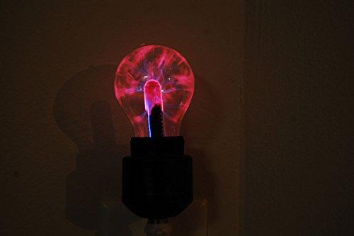 DirectGlow Plug in Electro Plasma Night Light with Black Base