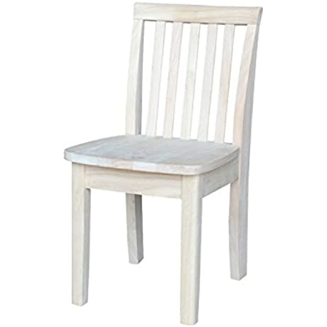 International Concepts 263P Pair Of Mission Juvenile Chairs Unfinished