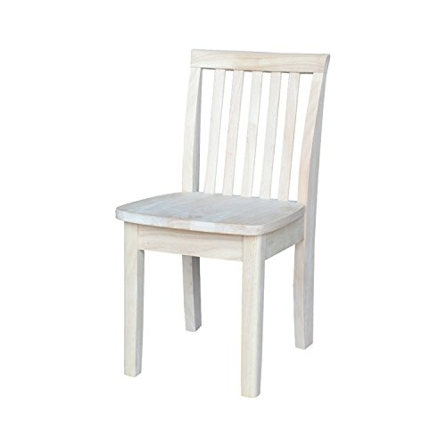 - International Concepts 263P Pair of Mission Juvenile Chairs, Unfinished