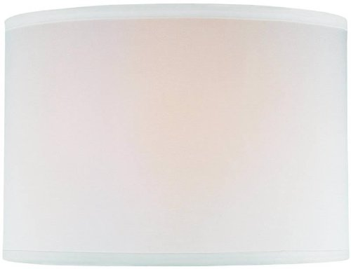Source Lite Drum - Lite Source CH1152-14OFF/WH 14-Inch Lamp Shade, Off-White