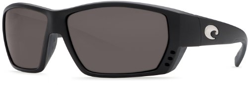 Costa Del Mar Sunglasses - Tuna Alley- Glass / Frame: Black Lens: Polarized Gray Wave 580 - Models Del Mar Costa