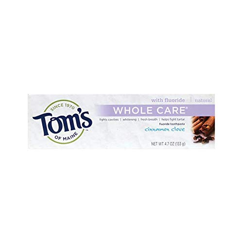 Tom's of Maine Cinnamon Clove Whole Care Toothpaste, 4.7 Ounce