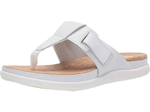 CLARKS Women's Step June Reef Sandal White Synthetic 100 M US ()