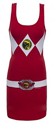 The Power Rangers Red Ranger Sexy Tunic Tank Dress (Juniors X-Large)
