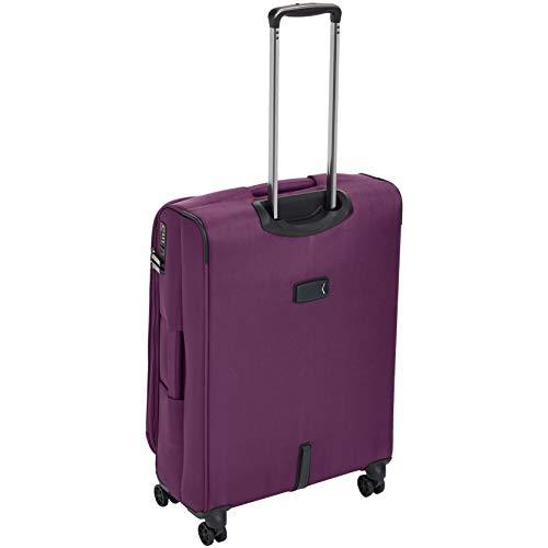 AmazonBasics Premium Expandable Softside Spinner Luggage With TSA Lock- 25 Inch, Purple by AmazonBasics (Image #4)