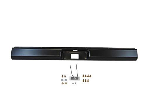 Fits 1973-1987 C10 Silverado Fleetside Rear Steel Roll Pan With License Plate Light