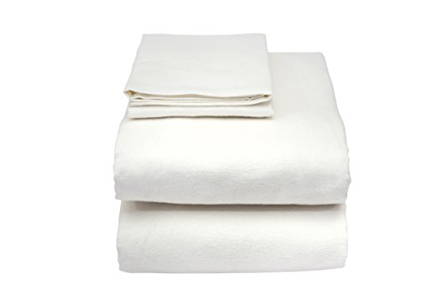 Essential Medical Supply Hospital Bed Set - Includes Fitted & Flat Sheet, Zippered Vinyl Pillow Protector