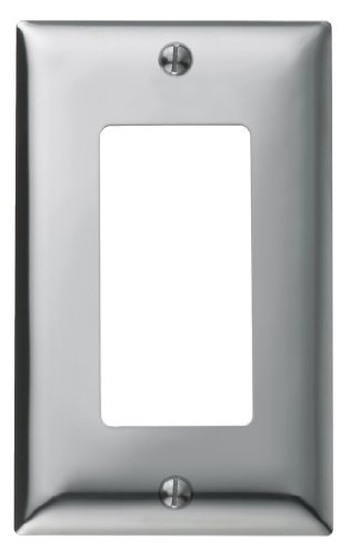 Bryant Electric SCH26 Metallic Wallplate, 1-Gang, 1 Decorator/GFCI Opening, Standard Size, Chrome Plated Steel (Chrome Outlet Cover compare prices)