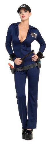 Secret Wishes  Costume Naughty Criminal Investigator Costume, Blue, Small ()