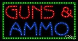 Guns & Ammo LED Sign (High Impact, Energy Efficient)