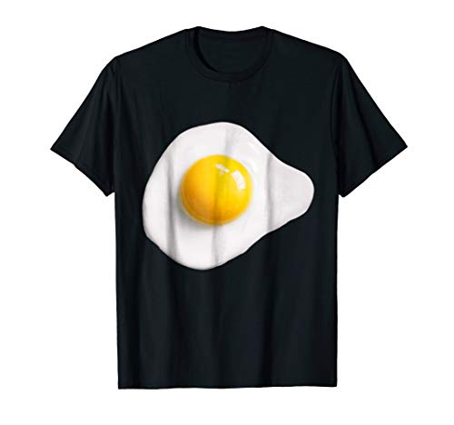 Mens Fried Egg Funny Halloween costume shirt matching couples 3XL Black