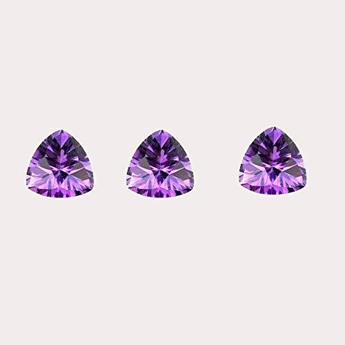 Natural Amethyst Concave Cut Trillion 3MM Top Quality 50 Pieces Purple Color Gemstone