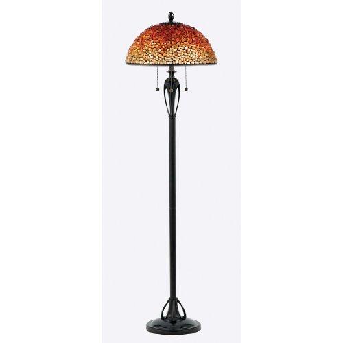 (Quoizel TF135FBC Pomez Tiffany Floor Lamp, 3-Light, 225 Watts, Burnt Cinnamon (62