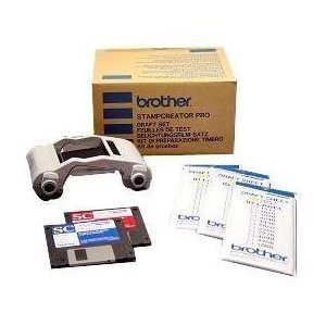 Brother PRDRFTN Pro Model Stamp Draft Set For use with SC-2000 or SC-2000USB Stampcreator Pro Systems, Includes Super Fine Ribbon Cassette and 150 Draft Sheets