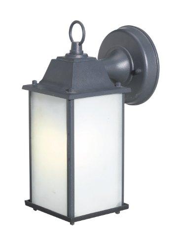 Woodbridge Lighting 60001WL-BKP Energy Saving 1-Light Outdoor Wall Sconce, Powder Coat Black