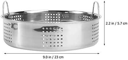 31mXwANu%2BPL. AC FRCOLOR Stainless Steel Steamer Small Food Steamer Basket with Handles Steaming Rack for Rice Vegetables Meat Fish Dumplings Dim Sum     Description The product is a steamer grill with a handle design, made of high- quality stainless steel, durable, environmentally friendly and safe to use. It can be used to steam buns and so on. It is convenient, practical and necessary for families.