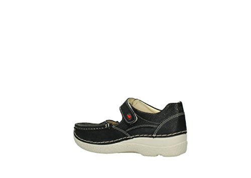 Fever Wolky Punkte 90070 Comfort Nubuk Janes Mary Roll 06247 schwarze wxAUaXAFq