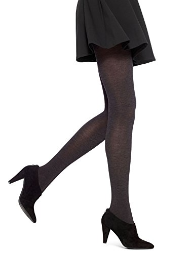 Hue Women's Thermo-Luxe Opaque Tights, Graphite Heather, ()