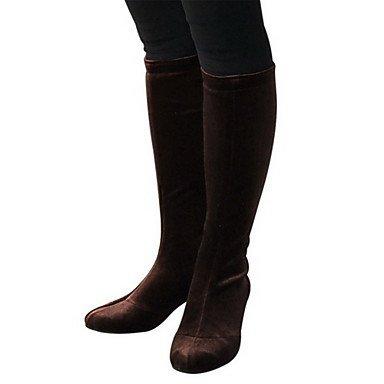 XIAMUO Frauen hohe Welle samt Stiefel Modern Dance Schuhe mehr Farben, Braun, EU/US7.5 38/UK5.5/CN 38