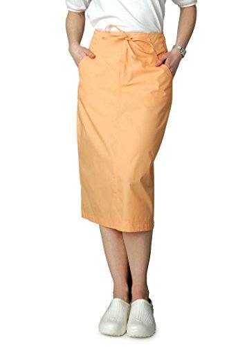 Adar Universal Mid-Calf Length Drawstring Scrub Skirt - 707 - Peach - 6 (Peaches Length Uniform Uniforms Mid)