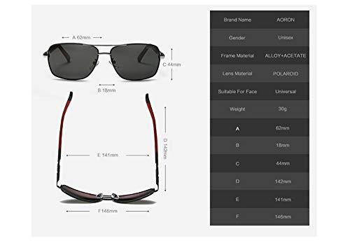 Aire Retro Personalidad pesca Polarizadas Actividades Libre Sol Estructura Liviana Uv400 Ultra Para Al conducción Protección Gafas De Ligero Adecuada Metal Hombre Unisex U4qT46W