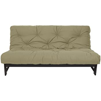 Medium image of mozaic full size 8 inch cotton twill gel memory foam futon mattress khaki