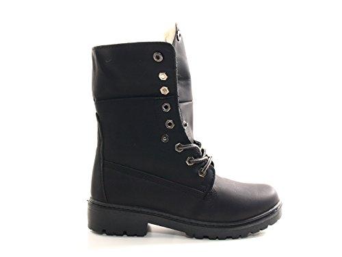 Damen Stiefel warm gefütterte Stiefeletten Boots Black # 9120 +++ Stiefel fallen kleiner aus, bitte 1 Nr. grösser bestellen ! +++