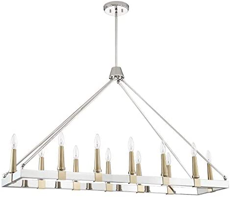 Park Harbor PHPL6212POSSAB Park Harbor PHPL6212 Cartgate 12 Light 48-7 8 Wide Linear Chandelier