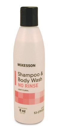 McKesson Brand McKesson No-Rinse Shampoo and Body Wash - 53-27913-8EA - 1 Each / - Rinse Free Shampoo