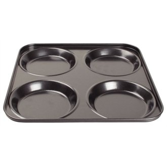 WIN-WARE Non-Stick 4 Hole Carbon Steel Yorkshire Pudding Tray. Cook the perfect yorkshire puddings in this high quality pan / Tin.