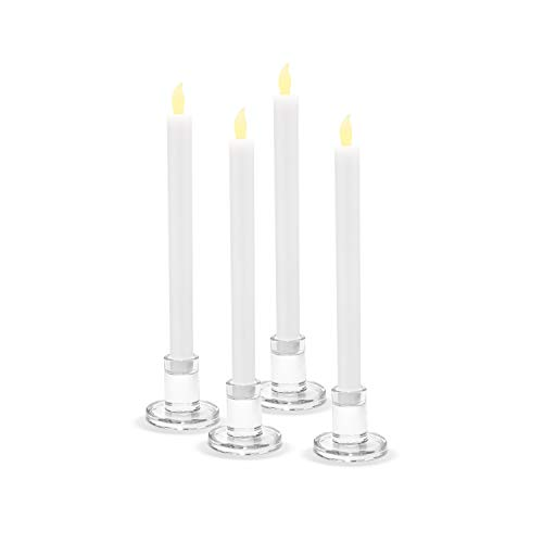 LampLust Clear Glass Candle Holders, Set of 4 - Round, 2.5