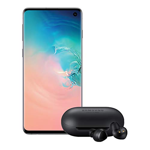 Samsung Galaxy S10 Factory Unlocked Phone with 128GB, (U.S. Warranty) - Prism White w/Galaxy Buds