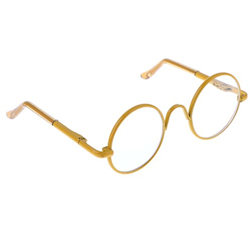 MagiDeal New 1/6 Hippy Clear Lens Round Full Rim Eyewear Spectacles for 12'' Blythe Dolls - Size Spectacle Chart