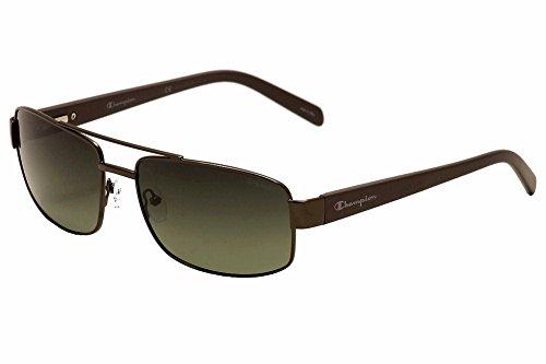 Champion Men's Gunmetal metal alloy Rectangular Sunglasses - Champion Polarized Sunglasses