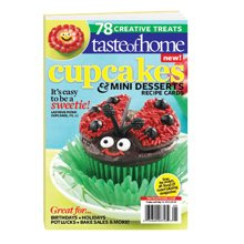 Cupcakes & Mini Desserts Recipe Cards magazine by Taste of Home: 78 Creative Treats -