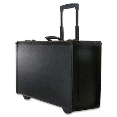 Stebco 251622Blk   Tufide Wheeled Catalog Case  Vinyl  22 1 4 X 13 1 2  Black Stb251622blk
