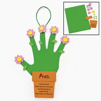 (Handprint Flowers For Mom Craft Kit - Crafts for Kids & Decoration Crafts)